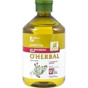 Dầu gội dành cho tóc nhuộm o'herbal, 500 ml